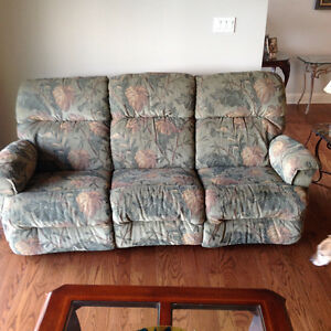 Lazy Boy Couch with Reclining Feature