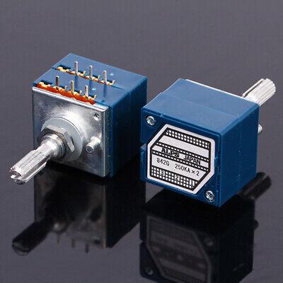New Original Alps Rk27 27 Type Dual 250k Potentiometer Plum Handle