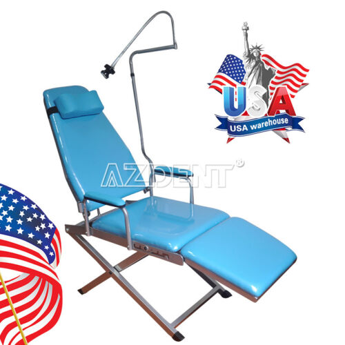 NEW Portable Dental Folding Chair Simple Type Rechargeable LED Light GM-C004 US