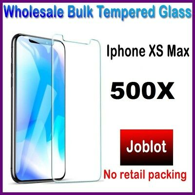 500X Wholesale Job Lot bulk Tempered Glass Screen Protector for iphone XS-MAX