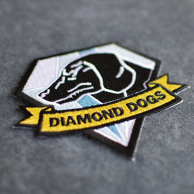 DIAMOND DOGS PATCH Metal Gear Solid COSPLAY Real Velcro BADGE BIG BOSS EMBLEM ()