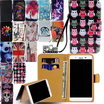 For Various MY Go GoFone Smartphones - Leather Wallet Card S