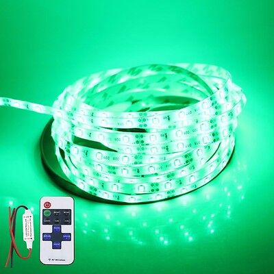 Wireless Waterproof LED Strip Light 16ft For Boat / Truck / Car/ Suv / Rv Green