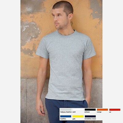 Fruit of the loom Herren T-Shirt Heavy-T Mann Shirts USA Cotton kurzarm 8 Farben