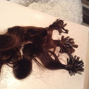 Fusion hair bonded extensions real hair Stratford Kitchener Area image 9