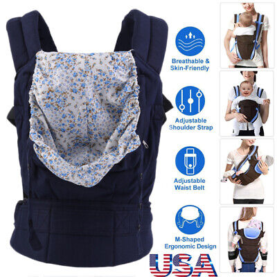 Ergonomic Baby Carrier Infant Newborn Hipseat Adjustable Wrap Sling Backpack USA