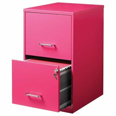 Pemberly Row 2 Drawer File Cabinet In Pink