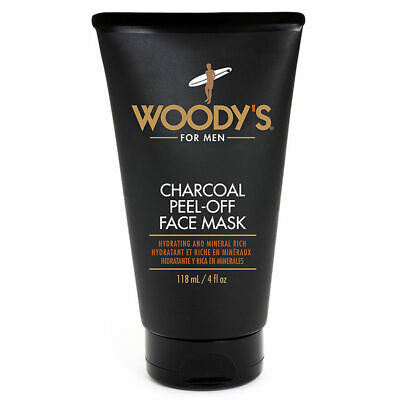 Woody's Charcoal Peel-Off Face Mask For Men Hydrating Minera