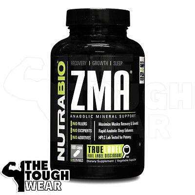 Magnesium And Sleep (NUTRABIO - ZMA 180caps - You Grow As You Sleep! Improve Muscle Strength and)