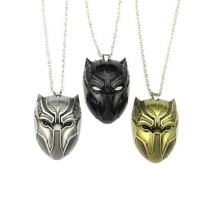 Marvel Superhero Black Panther Pendant Mask Necklace With Adjustable Alloy - Female Superheroes With Masks