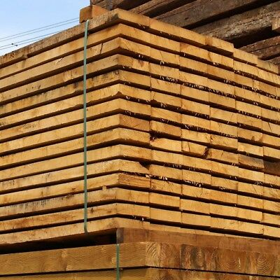Pack of 50 New Untreated Oak Sleepers 800mm x 200mm x 50mm FREE DELIVERY