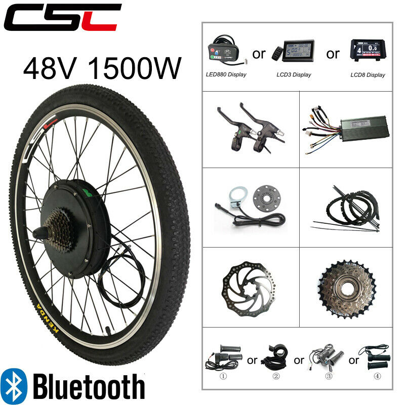 electric bicycle conversion kit 48v 1500w bluetooth