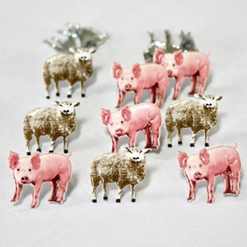 PIGS & SHEEP BRADS **EYELET OUTLET ** LIMITED QTY