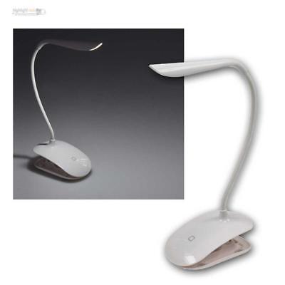 LED Luce Morsetto / da Lettura Touch-Funktion,1,5W Batteria per USB Ricaricabile