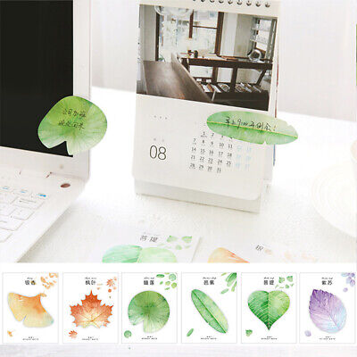 Cute Natural Plant Leaf Memo Pad Sticker Sticky Note Planner Stationery 30sheets