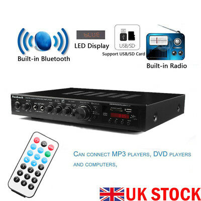 1000W 220V 5CH Home bluetooth HiFi Stereo AV Surround Amplifier Karaoke System
