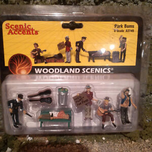 Lionel Style - Woodland Scenic Figs & Access. O Scale