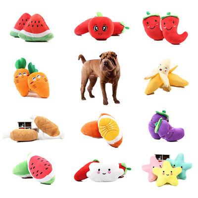 Bone Pet Toy - 1pc Cute Toy Fruit Vegetable Chicken Drum Bone Squeak Plush Pet For Dog Cat Chew