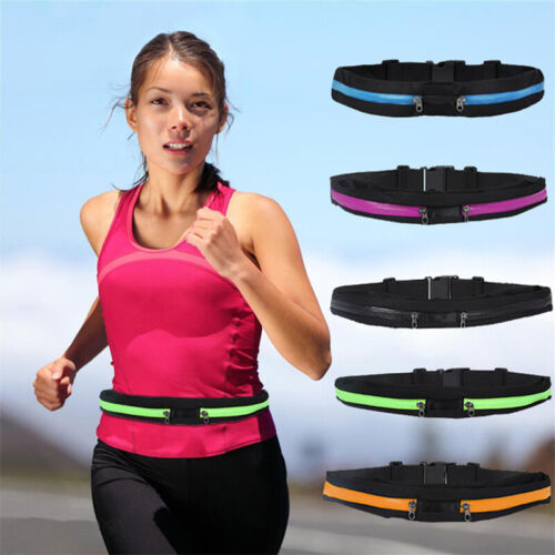Dual Pocket Phone Pouch Bag Fanny Pack Sports Waist Travel