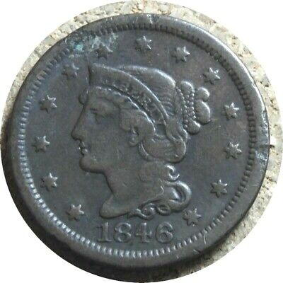 elf Coronet Large Cent 1846 Small Date Mexican-American War