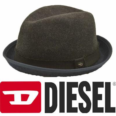 DIESEL Calielet Cappello Trilby Mens Fedora Hats Gentlemen's Hat 58cm RRP €55