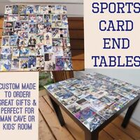 Custom Made to Order Sports Card End Tables NHL MLB TOPPS UD