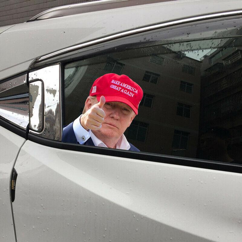 Car Window Sticker Person Size Passenger Side Right Trump President Universal