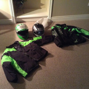 Arctic cat snopro team coat and two helmets all new
