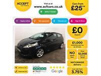 Ford Fiesta 1.0, 1.2, 1.4, TDCI Zetec Titanium BLACK, 3dr FROM £25 PER WEEK!