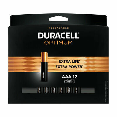 Used, Duracell Optimum Aaa Alkaline Batteries 2 Pk Carded 24 BATTERIES  for sale  Shipping to India