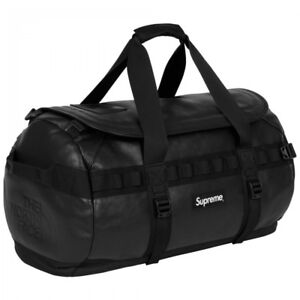 Supreme The North Face Leather Base Camp Duffel Black 17FW