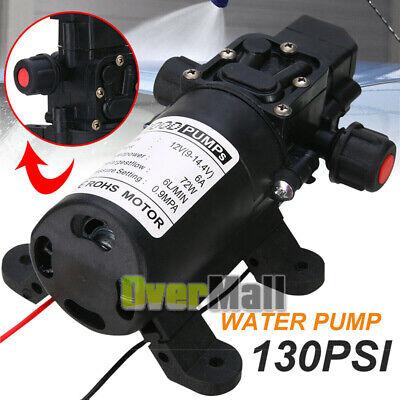 6lmin 12v 70w High Pressure Micro Diaphragm Water Pump 130psi Car Caravan Boat