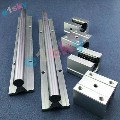 2 X Sbr12-500mm 12mm Linear Bearing Rail Slide Guide Shaft 4pcs Sbr12uu Blocks