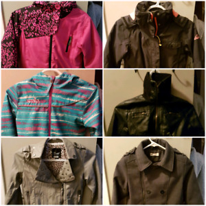 Girls jackets all size 8-10