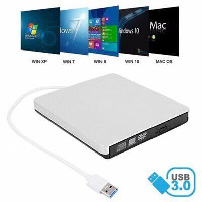 Externe USB 3.0 Slim DVD CD RW Graveur Lecteur de boîte Disque Drive Pour PC Mac