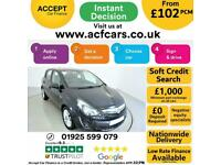 2014 BLACK VAUXHALL CORSA 1.4 100 SE PETROL 5DR HATCH CAR FINANCE FR £102 PCM