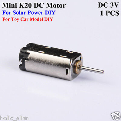 Mini Micro K20 Motor Dc3v 9000rpm Mini Solar Electric Dc Motor Diy Toy Car Model