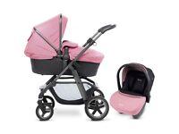 Silver Cross Pioneer Pram / Pushchair / Carseat in Vintage Pink colour