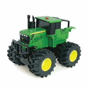John Deere Ertl Monster Treads Plastic Wheelie Tractor Farm Toy