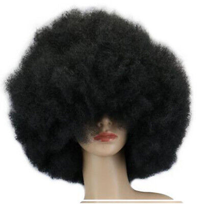 Characters Jumbo Mens 1970s Black Disco Oversized Afro Halloween Costume Wig