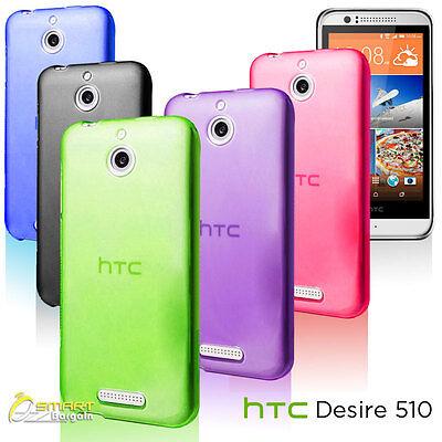 Matte Gel Case For HTC Desire 510 TPU Jelly Soft Cover  + Screen Guard  Htc Desire Matte