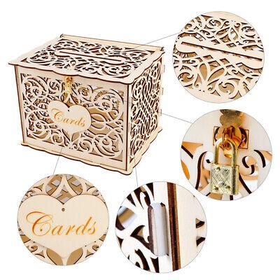 Rustic Wedding Greeting Card Box Birthday Party Decoration Supply Gift Money Box](Wedding Money Box)