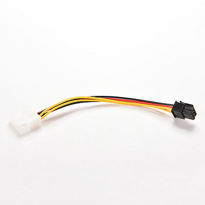 PCI-E Graphic Card Power Connector Cable Adapter single 4 Pin to 6 Pins In CA