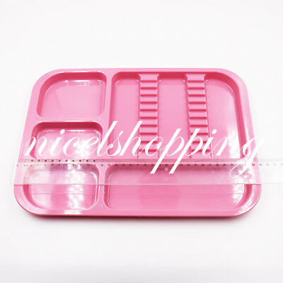 1 Pcs Pink Dental Autoclavable Divided Separate Tray Plastic Standard Instrument