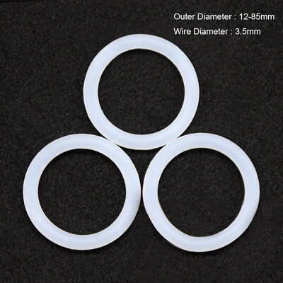 Silicone Rubber O-ring Sealing Washer Food Grade Od 12-85mm Cross Section 3.5mm