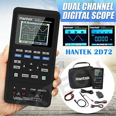 3in1 Hantek Handheld 2d72 Digital Oscilloscope Multimeter 70mhz Dmm Us Plug
