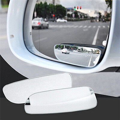 2X Universal Car Auto 360 Wide Angle Convex Rear Side View Blind Spot Mirror GH