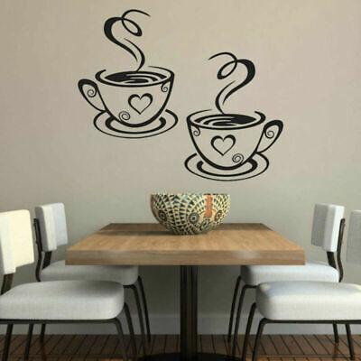 NUEVO 2 Café Tazas De Té Cocina pegatinas de pared Cafe Vinilo...