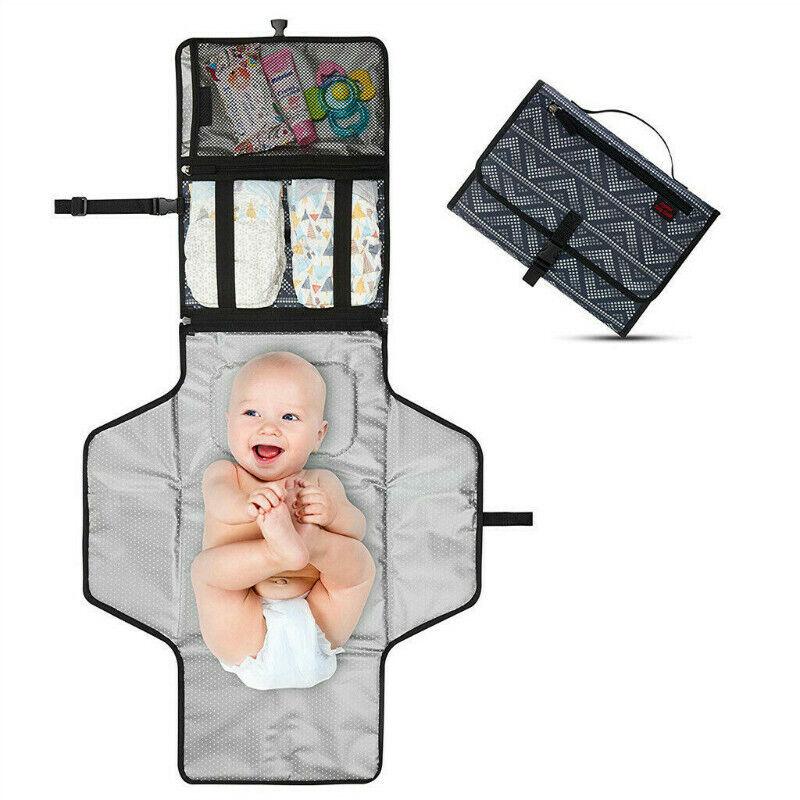 Portable Baby Diaper Changing Pad Waterproof Toddler Nappy Bag Travel Mat Travel