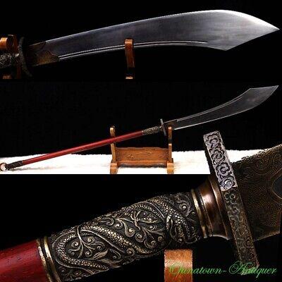 Actual Combat Functional Hand Made Pudao Polearm Sword Sharp Broadsword #3421